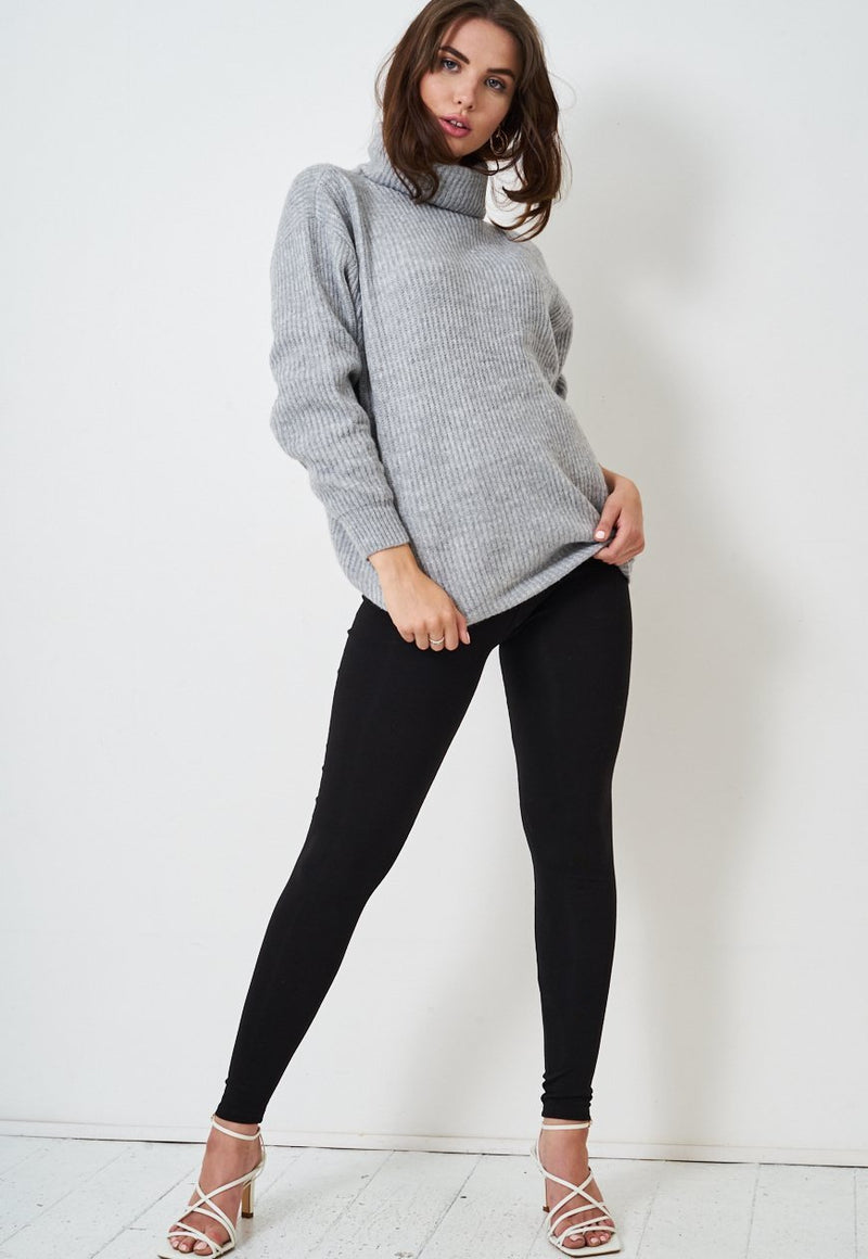 Black High Waist Opaque Leggings - love frontrow