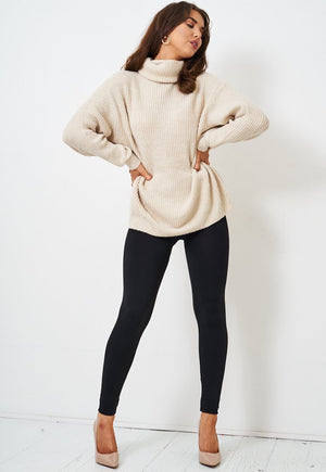 Black Stretch High Waist Fleece Leggings - love frontrow