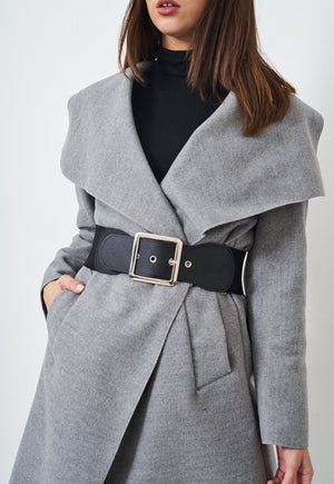 Oversized Silver Square Belt - love frontrow