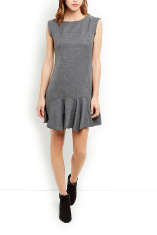 Cutie Grey Sleeveless dress