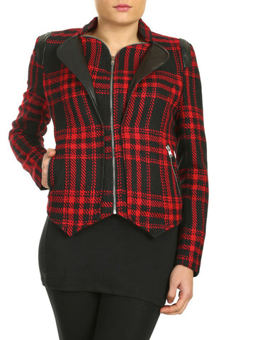 Cutie Double Layered Jacket - Red