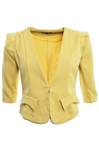 Cutie Yellow 3/4 Sleeve Jacket