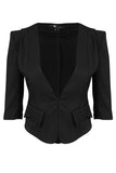 Cutie Black 3/4 Sleeve Jacket