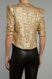 Gold Sequined Tailored Blazer
