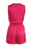 Cutie Bold Colour Playsuit - Fuschia