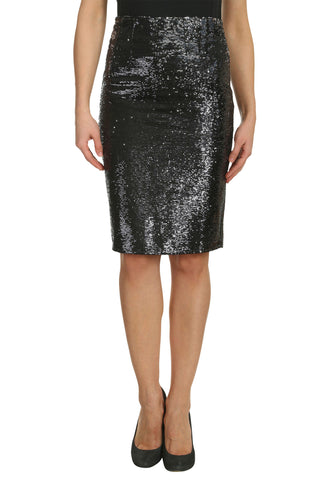 Cutie Black Sequined Pencil Skirt