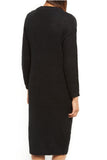 Leanne Black Textured Knit Dress