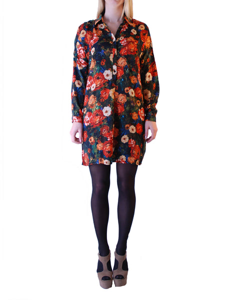 Cutie Floral Shirt Dress