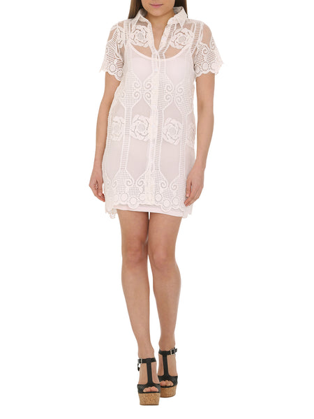 Cutie Lace A-line Shirt Dress