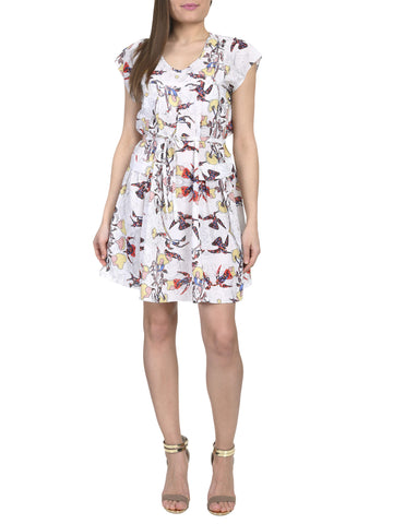 Cutie Floral Print Tshirt Dress