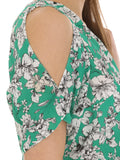 Cutie Green Floral Print Playsuit