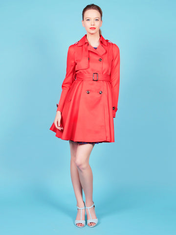 Cutie Red Classic Trench Coat