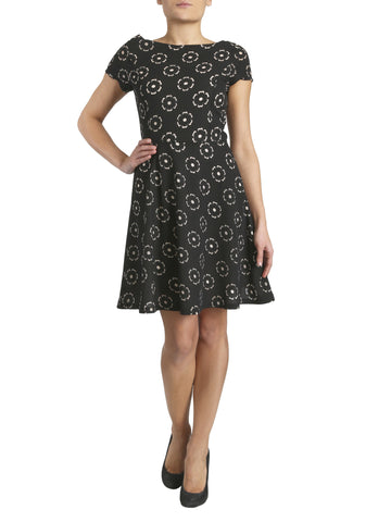 Cutie Laser Cut Skater Dress