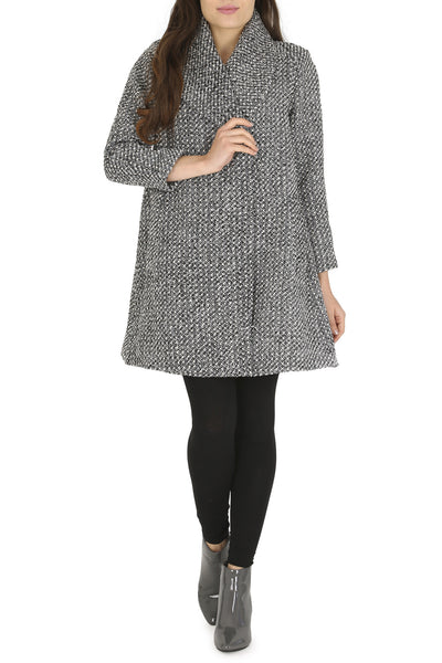 Cutie Dark Grey A-Line Coat