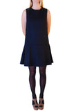 Cutie Wool Tailored Dress- Navy