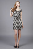 Cutie Zigzag Sequin Dress