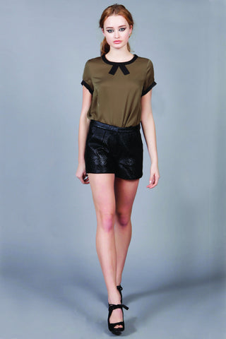 Cutie Textured PVC Shorts