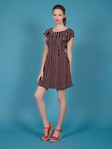 Cutie Striped Pleated Dress