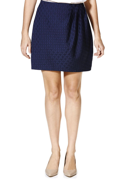 Cutie Navy Pleated Detail Skirt