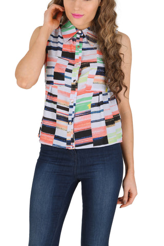 Cutie Coloured Block Top