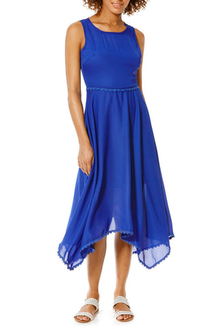 Cutie Handkerchief Hem Maxi Dress