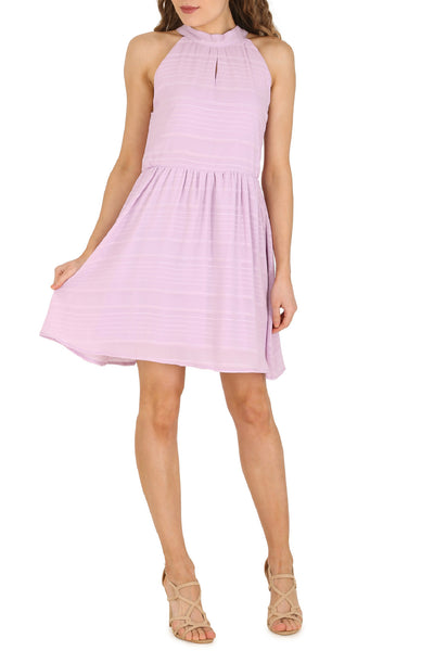 Cutie Halter Neck Textured Dress