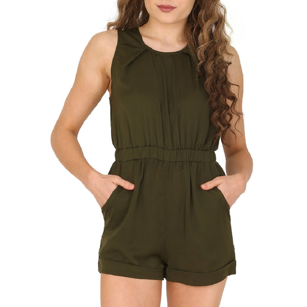 Cutie Green Elasticated Playsuit