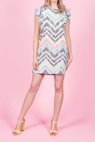 Cutie Geometric Print Shift Dress