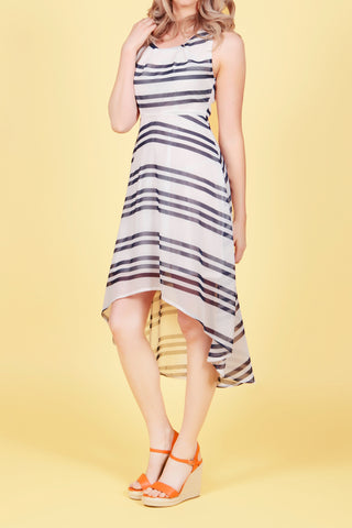 Cutie Stripe High-Low Dress