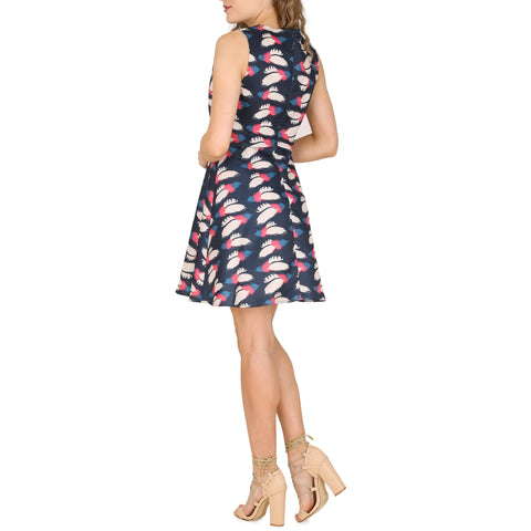 Cutie Feather Print Dress