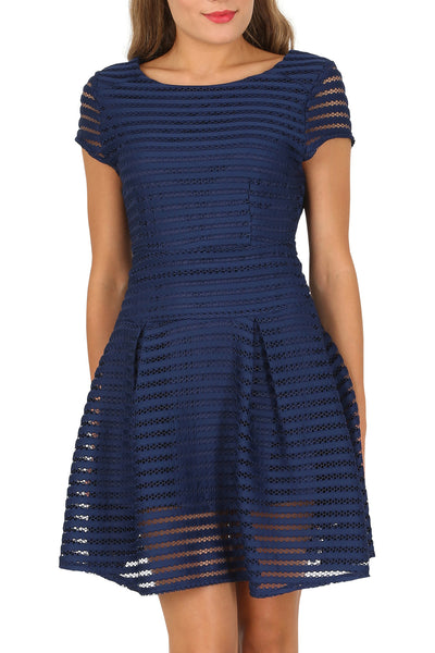 Cutie Stripe Textured A-line Dress