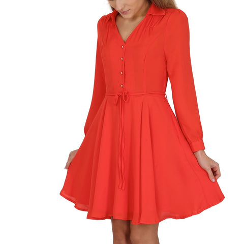 Cutie A-line Shirt Dress