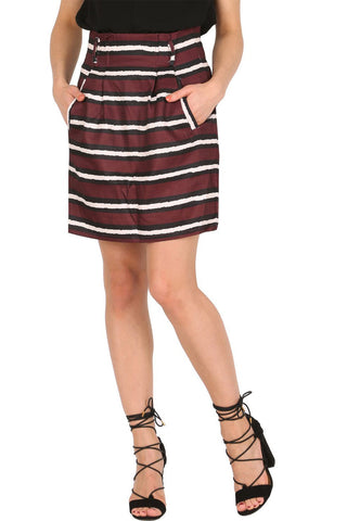 Stripe Print Skirt