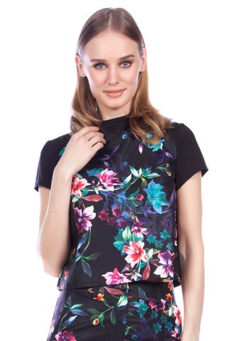 Cutie High Neck Floral Box Top