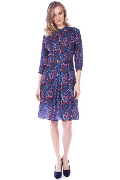 Cutie Colourful bird shirt dress