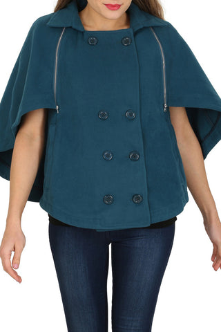 Cutie Bat Wing Cape Jacket - Teal