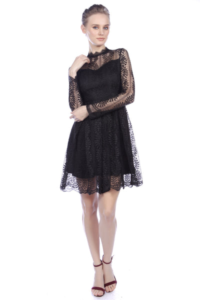 Cutie Elegant Long Sleeved Lace Dress
