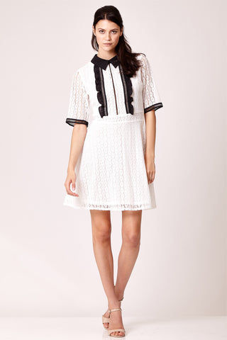 Monochrome Lace Dress