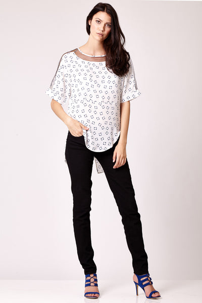 Cutie Mix Mesh Oversized Top