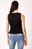 Cutie Sleeveless Peplum Top