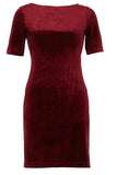 Cutie London Slim Bodycon Velvet Dress