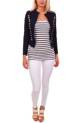 Cutie London Military Style Blazer - Navy