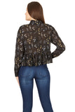 Cutie London Chiffon Ruffled Hem Shirt