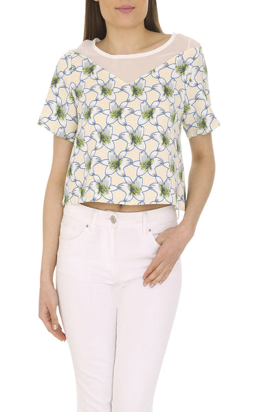 Chiffon Panel Top
