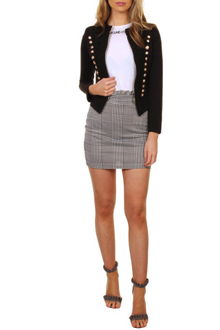 Cutie London Military Style Blazer - Black