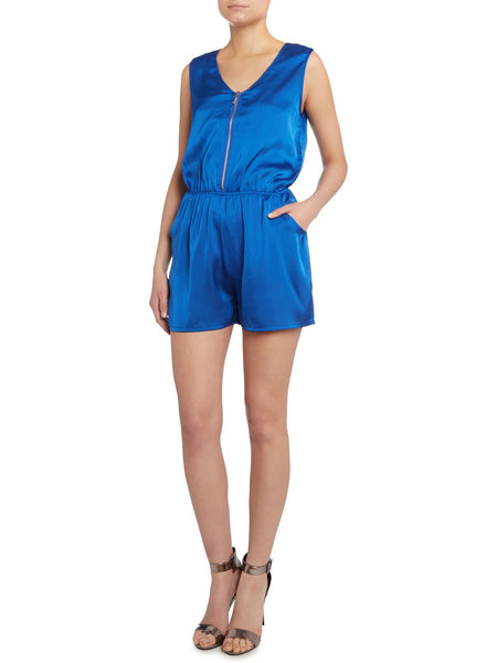 Cutie Bold Colour Playsuit - Blue