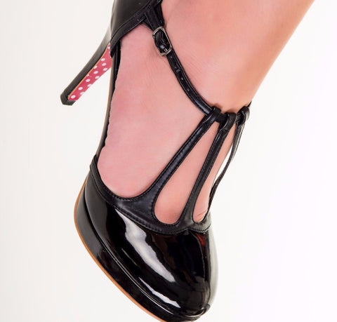 Black High Heel Platform Shoe - Pretty Kitty Fashion