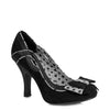 Ruby Shoo Black Bow Vamp High Heel Court Shoes - Pretty Kitty Fashion