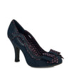 Ruby Shoo Navy Blue Bow Vamp High Heel Court Shoes - Pretty Kitty Fashion