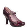 Ruby Shoo Wine Red Mary Jane Heels - Pretty Kitty Fashion